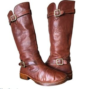 Coach Whitley Leather Brown Tall Boots Sz 6.5 UEC
